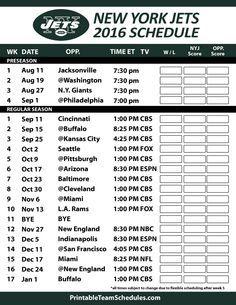 New York Jets 2016 Football Schedule. Print Schedule Here - http://printableteamschedules.com/NFL/newyorkjetsschedule.php