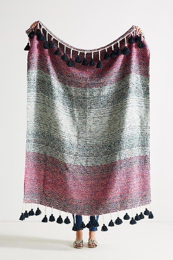 Anthropologie Woven Sundown Throw Blanket