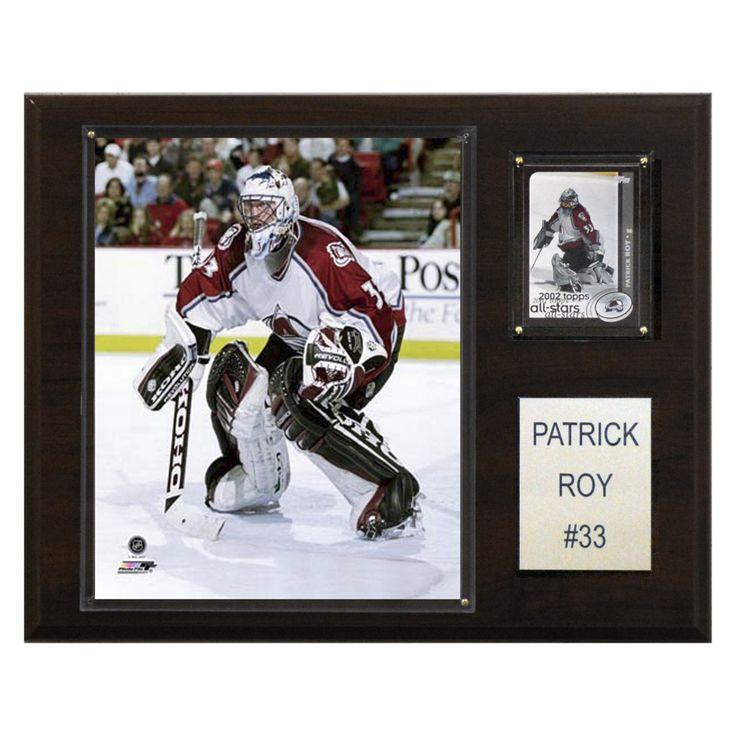 NHL 12 x 15 in. Patrick Roy Colorado Avalanche Player Plaque - 1215PROYCOL