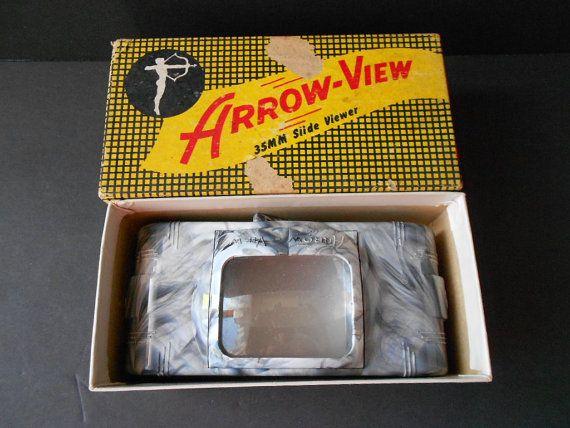 Vintage Arrow View Marbled Bakelite Slide by TheArtifactAttic, $14.00