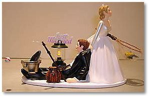 fishing and tree themed wedding cakes   One more thing for your wife- and mother-in-law- to-be to agonise over ...
