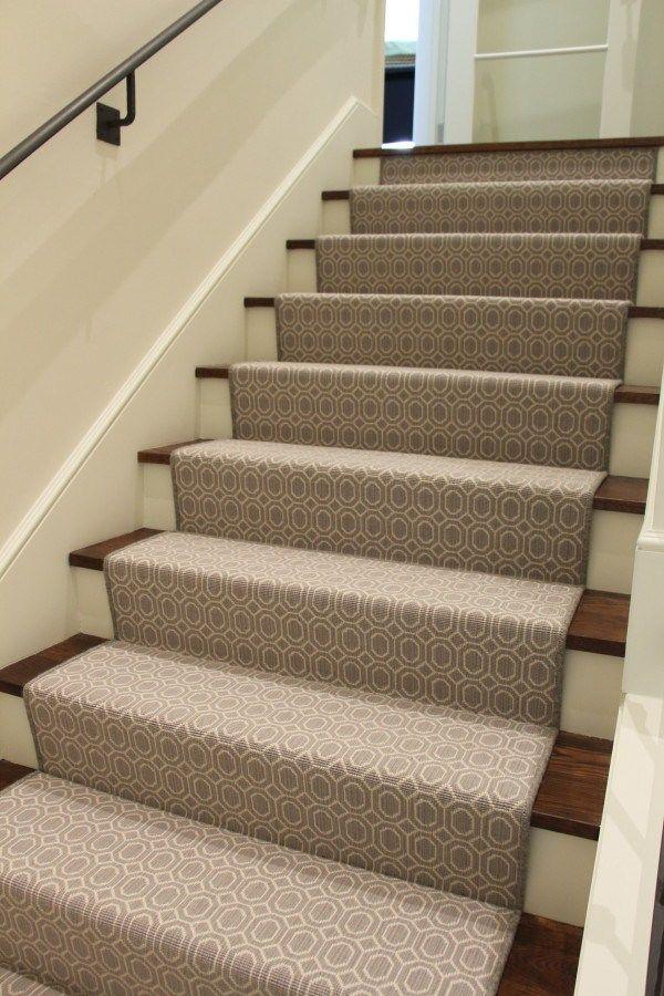Waterfall Stair Runner 100 Wool Carpet Grey Megan