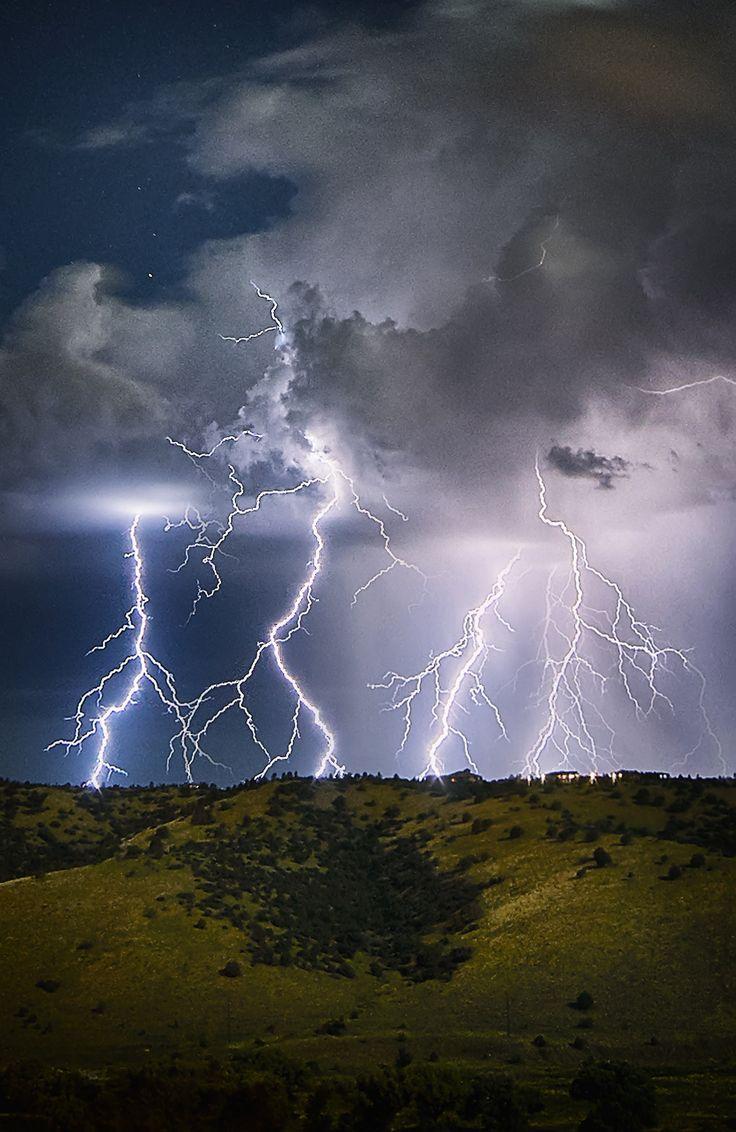 Lightning over Prescott, Arizona.