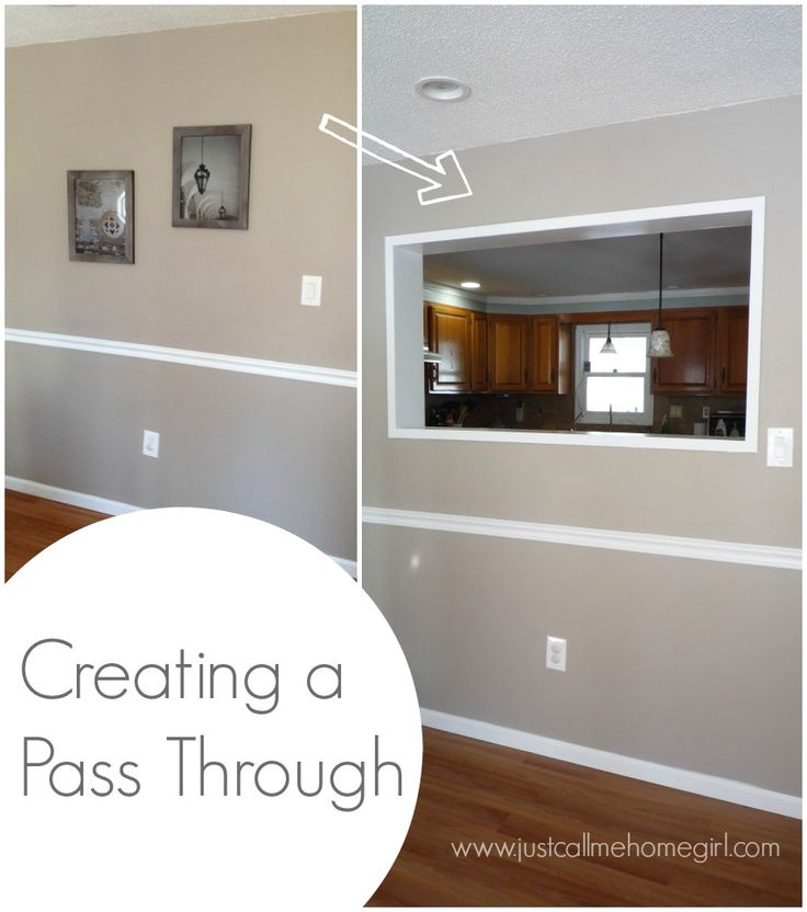 147 best images about wall cutouts stuff on pinterest kitchen ideas kitchen and kitchen for Pass through kitchen ideas