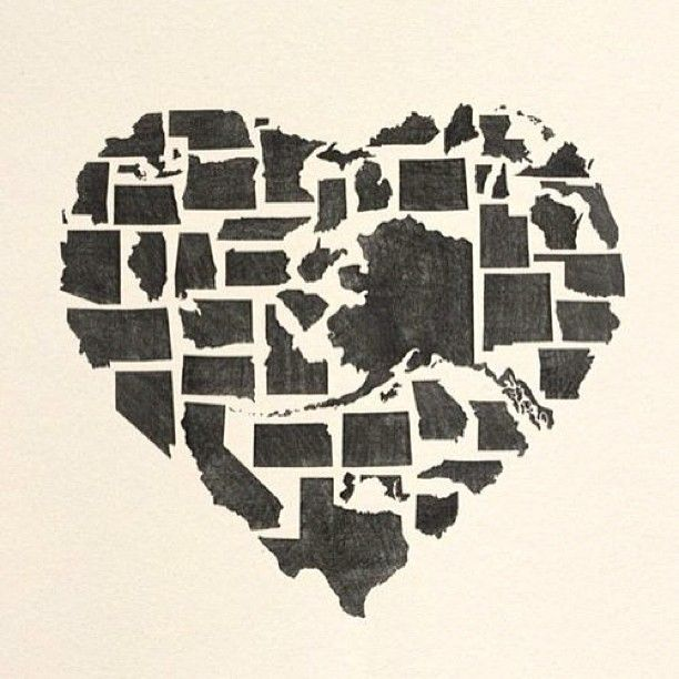 This Would Be Sooo Cute To Use As A States Project Love Using The 50 States Cartridge With Cricut Love It Land That I Love Awesome Project For Usa