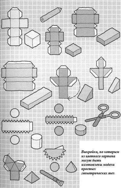 Плоскостные фигуры из бумаги