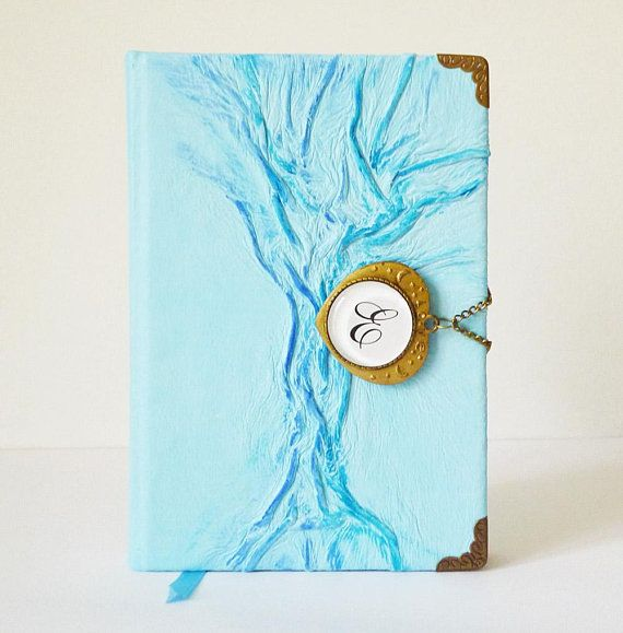 #CustomNotebook #Personalized #LeatherJournal #GiftforHer #Graduation #Diary #Readytoship #TreeofLife #Turquoise #WritingJournal