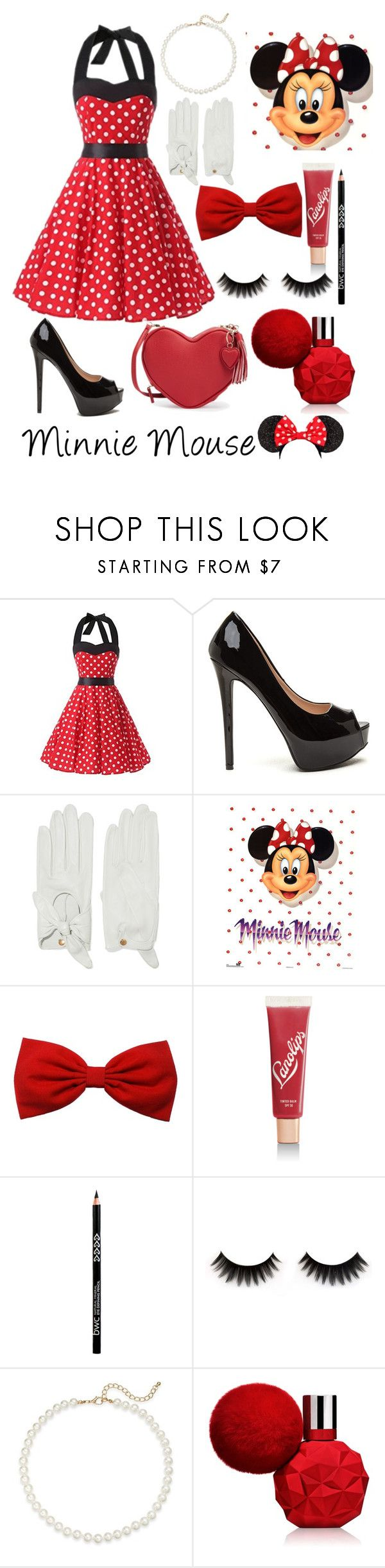 """Minnie Mouse"" by lexisamskywalker on Polyvore featuring Causse, Lano and Saks Fifth Avenue"