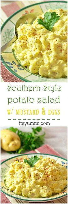 Southern Style Mustard Potato Salad with Egg – This is the best potato salad, ev…