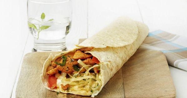 Pita met gyros op kebab-wijze