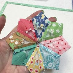 "Today I'm going to show you how to make another cute little dresden. This one has points and finishes at 4 1/2"". I love showin..."
