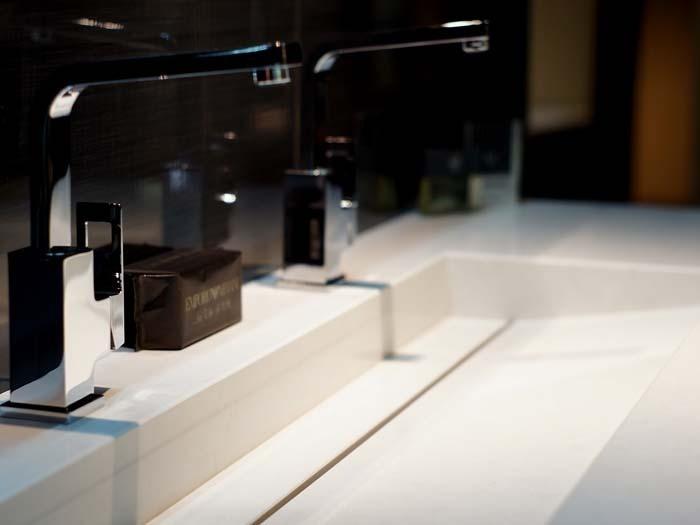 CaesarStone worktop / sink made by Erbi