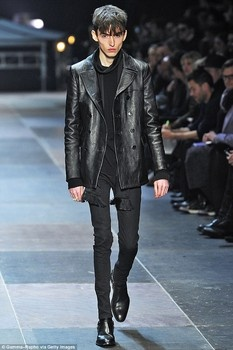Skinny male model hits a nerve at Paris Fashion Week.