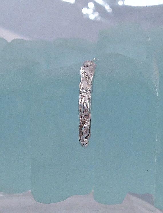 Minimalist Half Hoop Earring //  Single Earring  // by SilverEdit