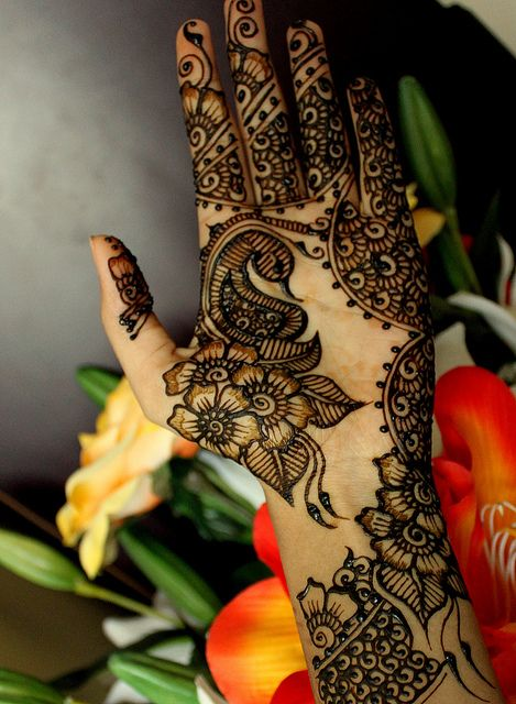 Floral palm by Joy of Henna, via Flickr