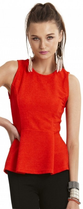 Stealth Top by WISH  Now: $69.95 #fashion #red #top