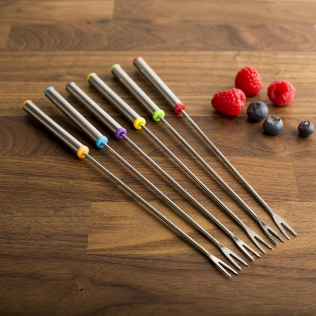Are you having a fondue party? Have more friends than you do forks? Pick up a set or two of the Luciano Gourmet Fondue Forks so nobody is left out.