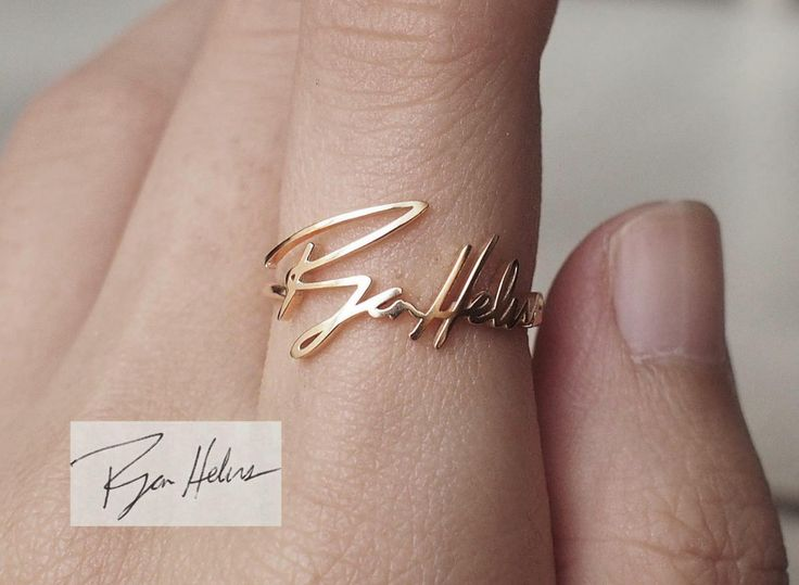 Personalized Signature Ring - Actual Handwriting Ring - Memorial Jewelry - Gift for Mom - PR03 by GracePersonalized on Etsy https://www.etsy.com/listing/230098523/personalized-signature-ring-actual