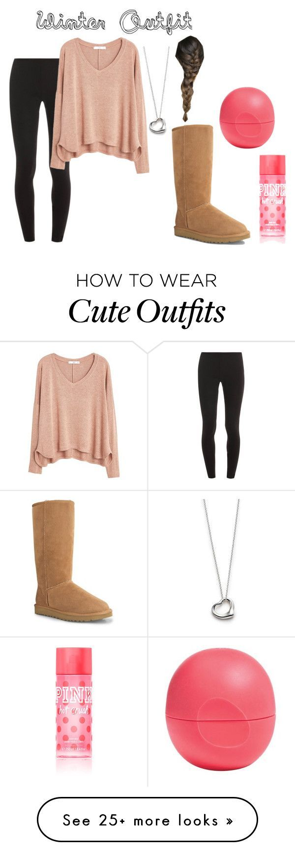 Winter Outfit by villani on Polyvore featuring Splendid, UGG Australia, MANGO, Elsa Peretti, Eos and Victorias Secret