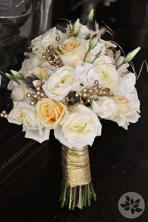 Golden Bridal Bouquet : Best gold ribbons ideas on