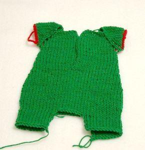 МК вязаный комбинезон, одежда для куклы, мишка тедди, одежда для мишки