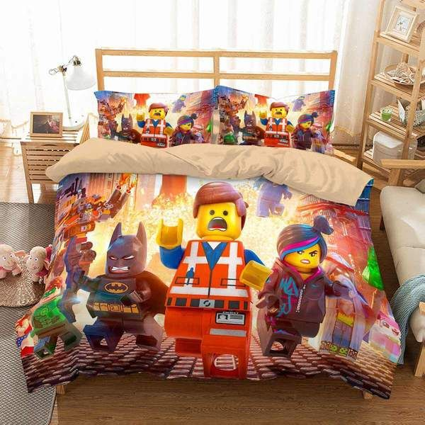3d Customize The Lego Movie Bedding Set Duvet Cover Set Bedroom Set Bedlinen Duvet Cover Sets Duvet Covers Custom Bed