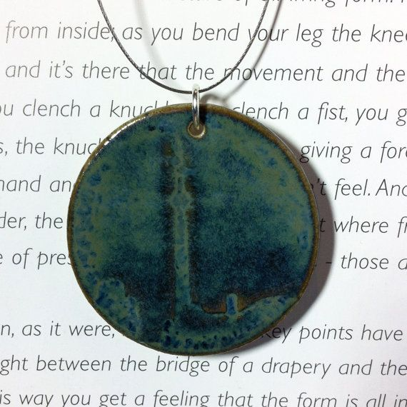 Toronto CN Tower Ceramic Pendant with by CuriousBirdPottery