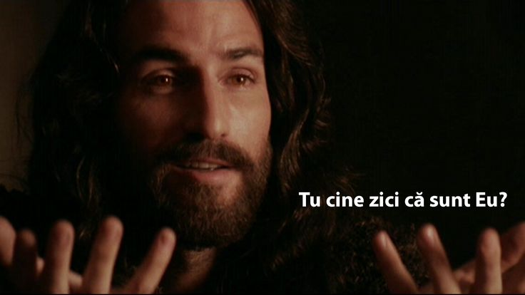 Jesus asking who do you say I am in Romanian.