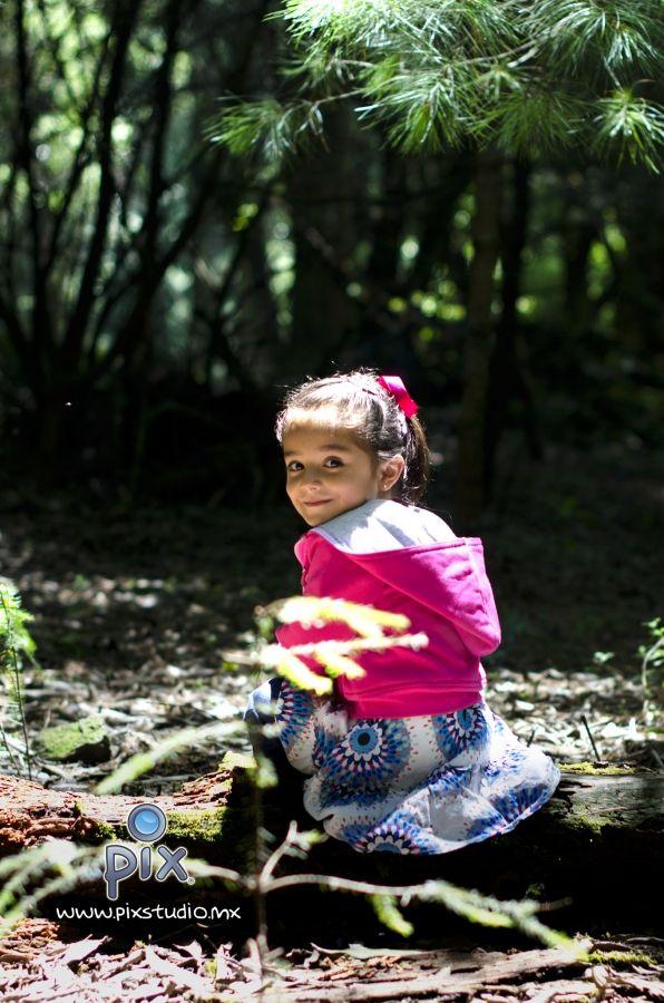 fotografía, retrato, niña, bosque