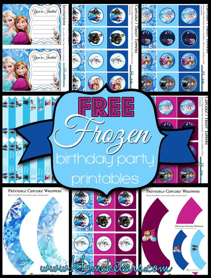 Free Frozen Birthday Party Printables