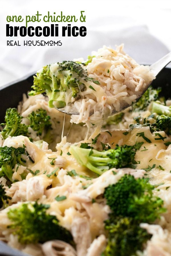 ONE POT CHICKEN AND BROCCOLI RICE is an essential back-pocket recipe for those really busy nights that takes just 20 minutes to prepare and is all made in ONE pot!
