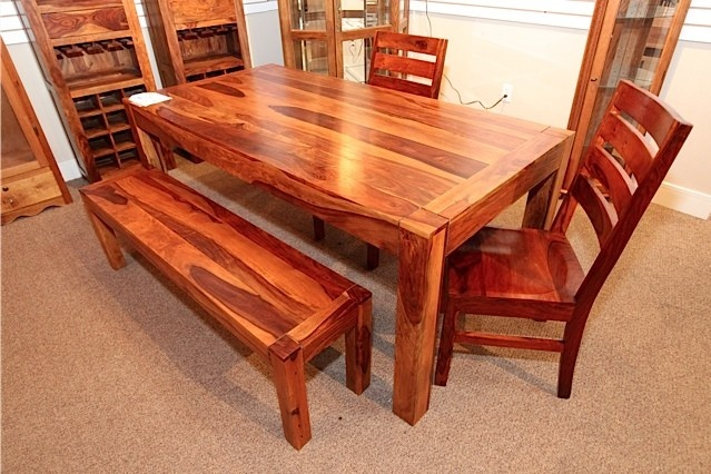 Rustic Dining Table With 2 Chairs And Bench Colleen 39 S Classic Consignme
