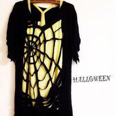 HAPPYHALLOWEEN!!蜘蛛の巣Tシャツと魔女の靴☆作り方☆ TamakiYuiの手作り雑貨photo