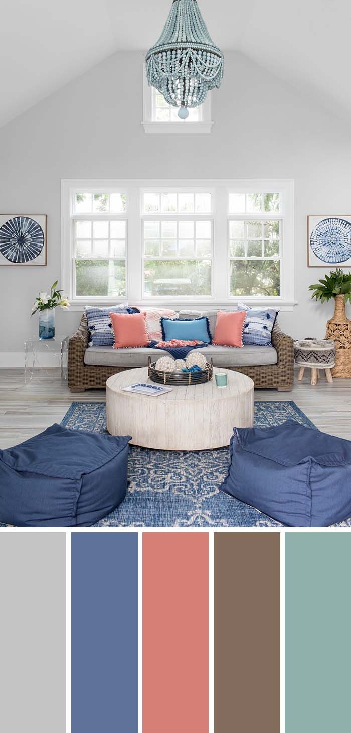 Pin On Barevne Paletky Cool living room colors
