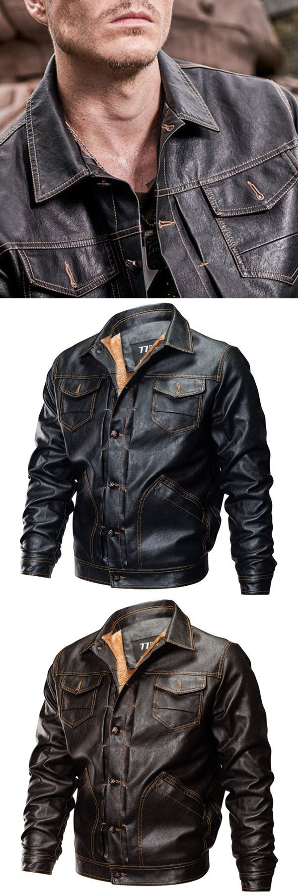Stylish Leather Jackets for Men. New Year's Best Choise. 2 Colors Optional. Special Discount Today.