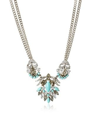 60% OFF Ben-Amun Faux Turquoise Swarovski Crystal Necklace