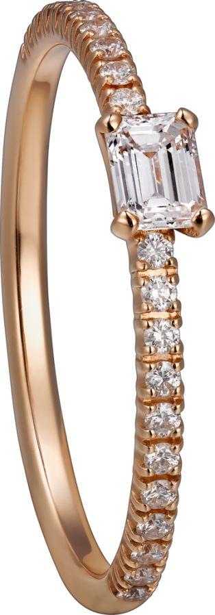 Etincelle de Cartier Ring Rotgold, Diamanten