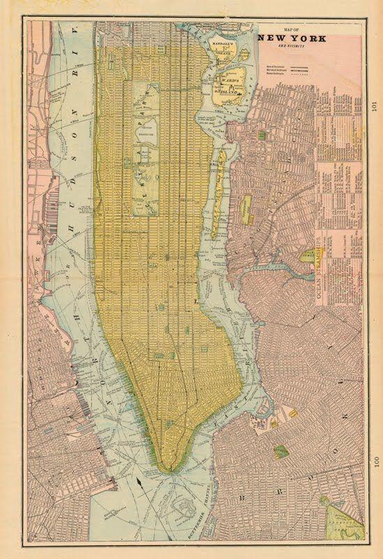 map, New York, New York, 1899