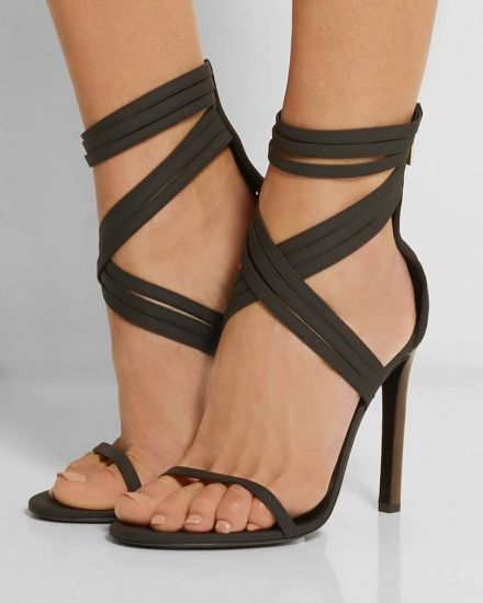 Cross Strap Hollow Round Toe Ultra High Heel Summer Gorgeous Platform Sandals