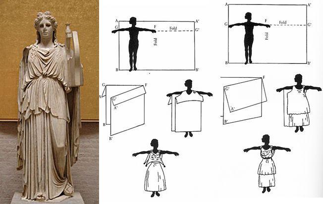 Пеплос - с 8 по 2 в. до н.э. верхняя одежда дорийских гречанок
