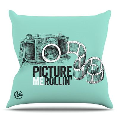 East Urban Home Picture Me Rollin Outdoor Throw Pillow