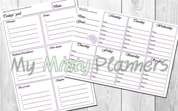 JEWELRY DESIGNER PLANNER A4  Printable Daily by MyMintyPlanners