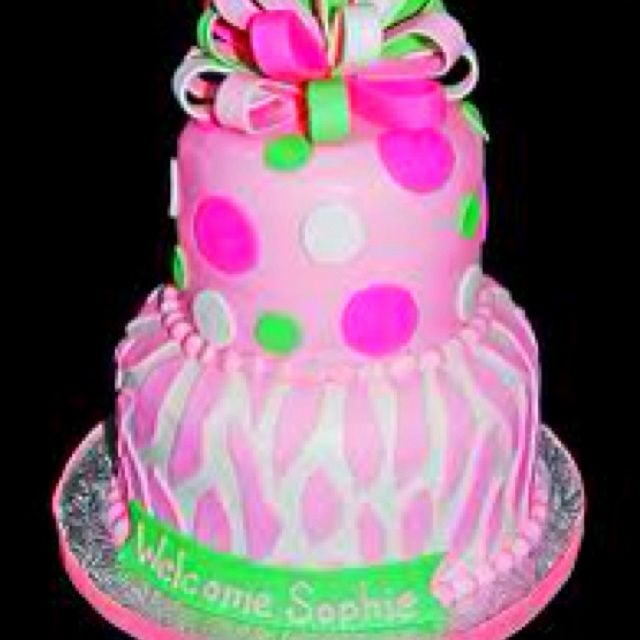 Cute Pink Birthday Cakes For Girls Cute little girls birthday