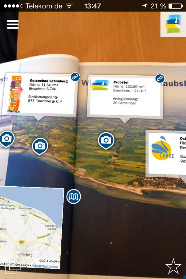 [German content] Blogger Kristine Honig reports about the interactive holiday brochure of vacation region Probstei located on the Baltic Coast in Germany.