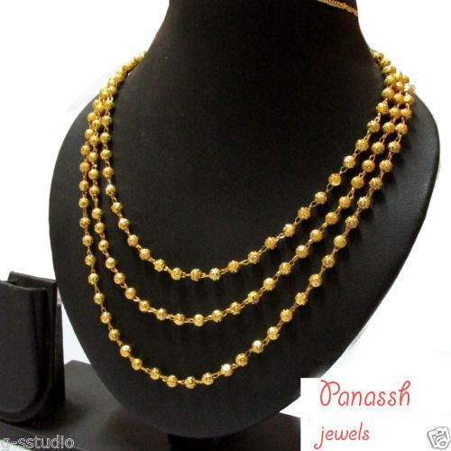 South Indian Traditional Jewellery 3 line chain necklace lowest price  #panasshjewels