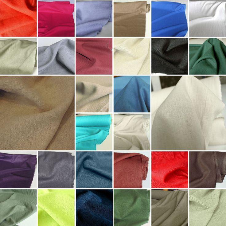 klassischer LEINEN-Stoff für Kleidung u Deko weich blickdicht farbecht Meterware in Bastel- & Künstlerbedarf, Stoffe | eBay!