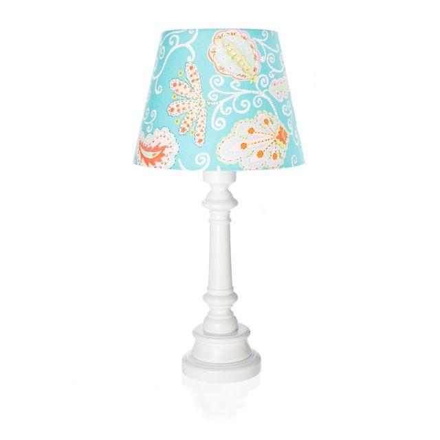 "Lampa ""Turkusowe kwiaty"" - stożek  Zobacz inne produkty: http://bit.ly/1mHiui1  #lamps #forkids #design #dizajn"