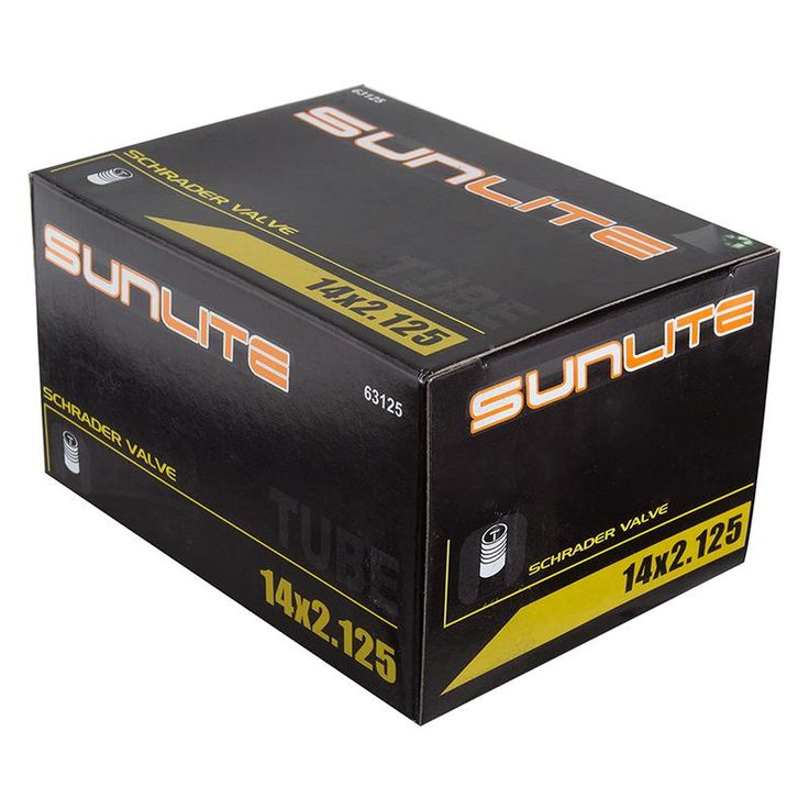 Sunlite 14x2. 125 32mm Schrader Valve Bicycle Tube