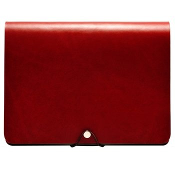 Leather Arc iPad Cover. Elegantly simple, this handcrafted iPad case is constructed from premium Italian calfskin. It can be folded a variety of ways so you can perfectly position the tablet on your desk or lap. $120.00