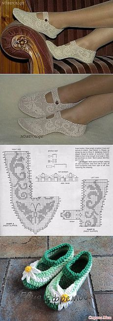 Belles pantoufles dans le filet de l'art    Domosedkam.ru